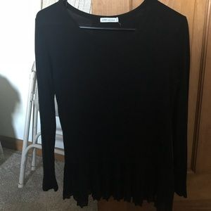 Black long sleeve with ruffle